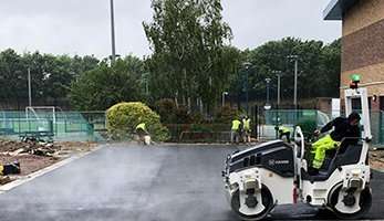 Sports Court being tarmacked by Whittaker Paving